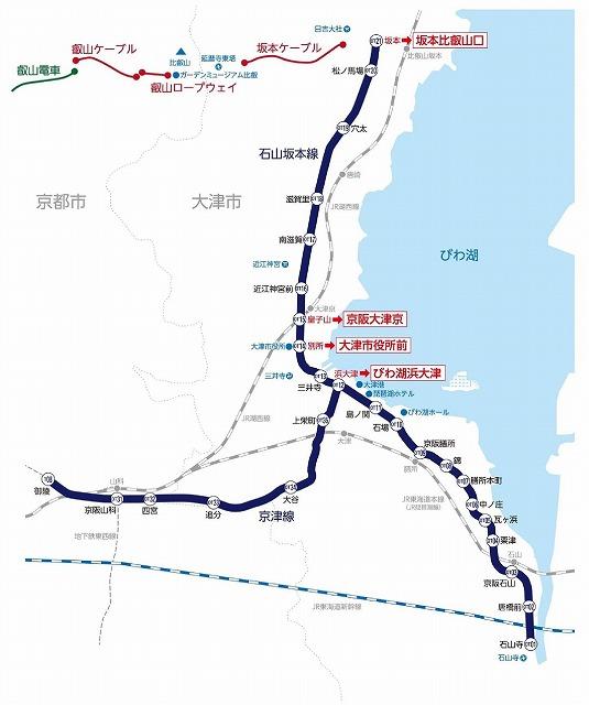 京阪大津線地図
