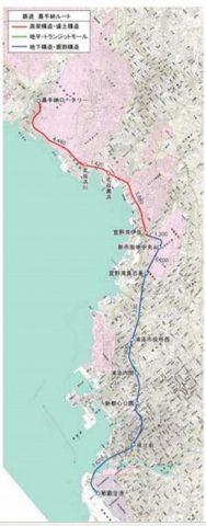 普天間基地鉄道路線図