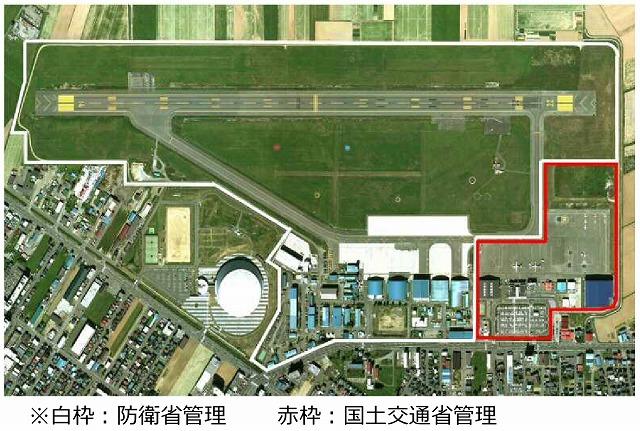 丘珠空港空撮図