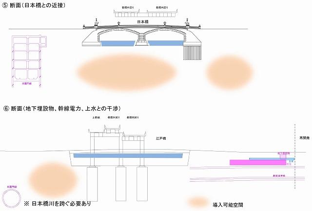 首都高江戸橋断面
