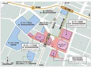 虎ノ門ヒルズ駅位置図