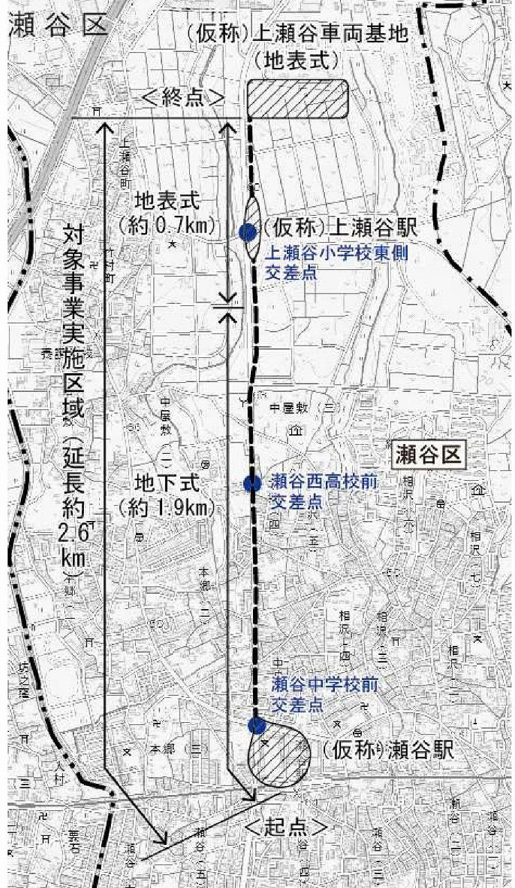 上瀬谷ライン路線図