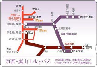 京都嵐山1dayパス