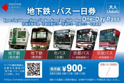 京都バス地下鉄一日券