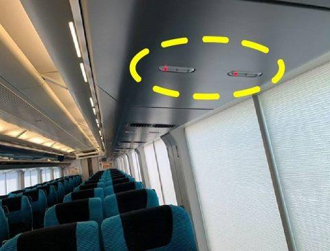 座席上方ランプ