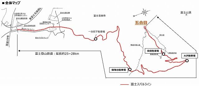 富士登山鉄道地図
