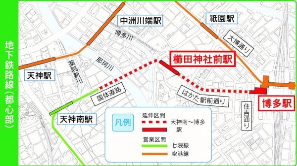 櫛田神社前駅地図