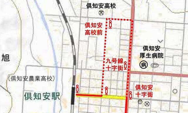 倶知安市内バスルート