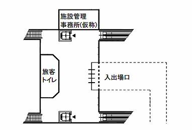リニア中間駅構造