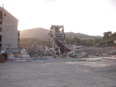 津波被災直後の旧女川駅