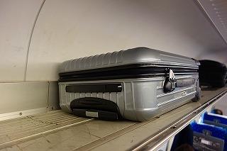 新幹線荷物棚